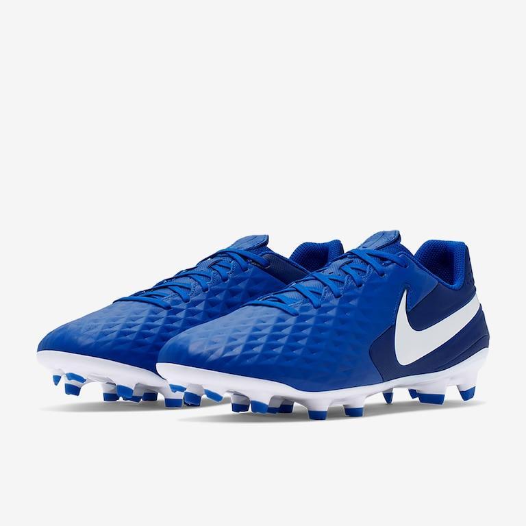 Детские кожаные бутсы Nike Tiempo Legend 8 Academy JR FG/MG синие AT5732-414 (оригинал)