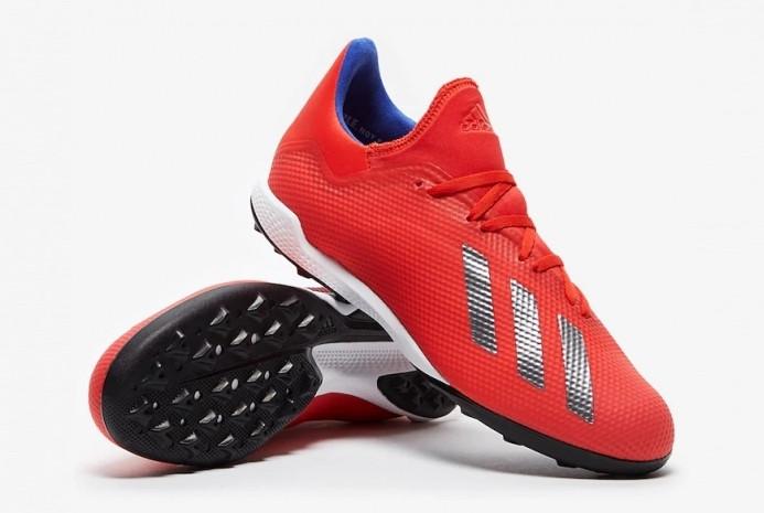 Футбольные сороконожки Adidas X 18.3 TF красные BB9399 (оригинал)