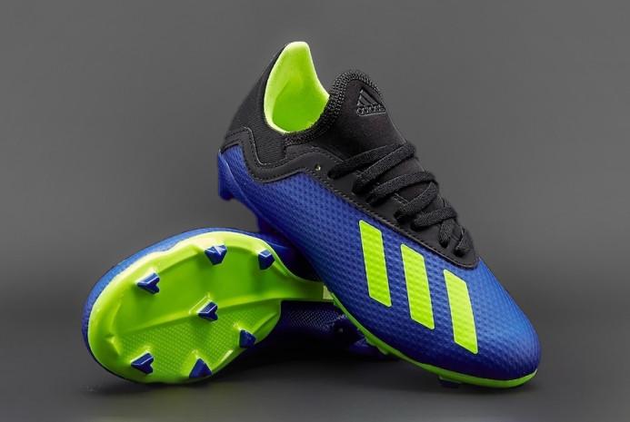 Детские футбольные бутсы Adidas X 18.3 FG J синие DB2416 (оригинал)