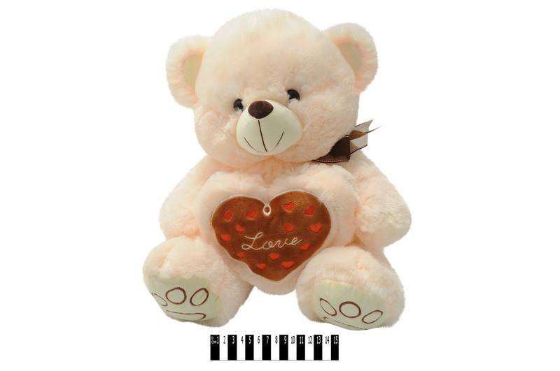 """Іграшка мяка """"Ведмедик з серцем"""", муз, Мягкая игрушка """"Мишка с серцем"""" 4361/40"""