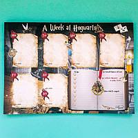 Еженедельник настольный Гарри Поттер Weekly A week at Hogwarts А4 52 листа