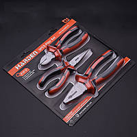 Набор шарнирно-губцевого инструмента 3 предмета (пассатижи, бокорезы, длинногубцы) Harden Tools 560179