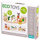 Дитяча дерев'яна залізниця EcoToys HM008999 78 елементів для дітей, фото 2