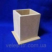 Подставка для карандашей и ручек 10х10х11 см МДФ заготовка для декора 1