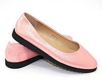 Женские розовые балетки, фото 1