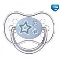 Пустышка круглая силиконовая Newborn baby, 0-6м