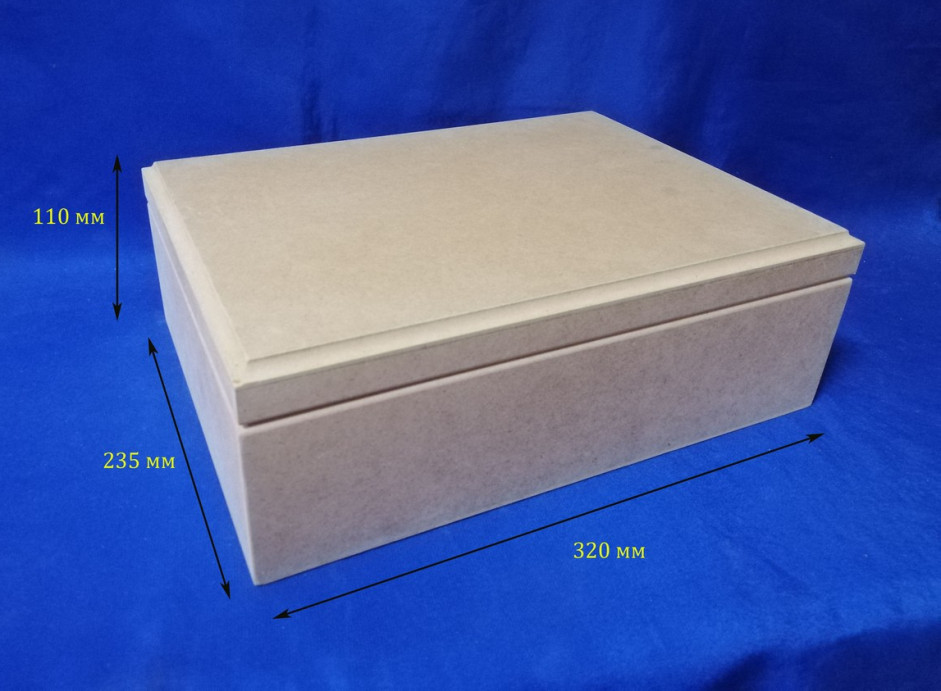 Шкатулка Сундук 32х23.5х11 см МДФ заготовка для декора