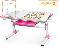 Регулируемый Письменный стол Evo Darwin 120см, (голубой, розовый, серый) + лампа, фото 1