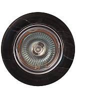 Точечный светильник MR16 624 A - 4 CH+BK  хром (черный камень)