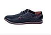 Мужские кожаные летние туфли Levis Strauss black Area перфорация черные