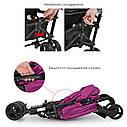 Прогулочная коляска-трость El Camino Rush ME 1013 Ultra Violet фиолетовая, фото 3