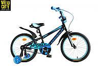 """Детский велосипед 18"""" FORMULA SPORT с боковыми колесами, фото 1"""