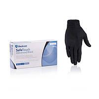 """Перчатки нитриловые размер XS  ЧЕРНЫЕ Medicom """"SafeTouch Advanced Black""""  х 100 шт. уп."""