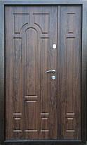 Двустворчатые металлические входные двери металл/МДФ Арка винорит на улицу 120 см., фото 2