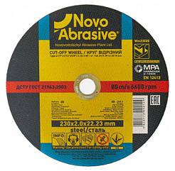 Круг отрезной 230х2,0х22,23 по металлу NovoAbrasive