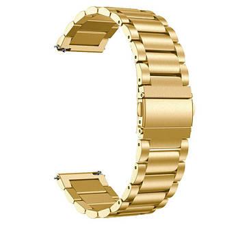 Металевий ремінець Primo для годин Samsung Galaxy Watch 46mm (SM-R800) - Gold