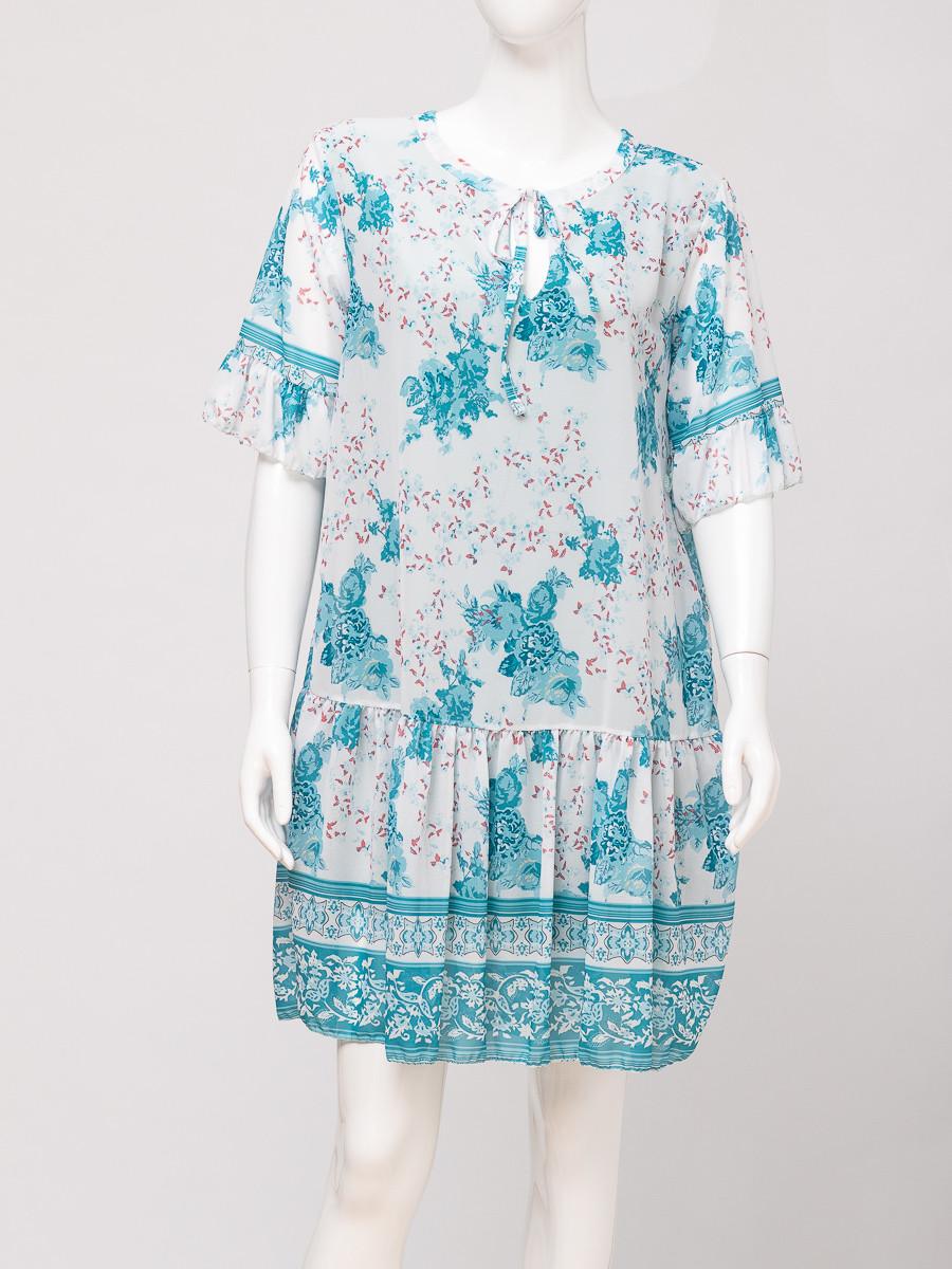 Платье женское MODA 8623 WHITE/TURQUAZ 4500