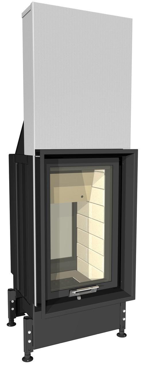 Тунельна , сталева, вертикальна  камінна топка з гільйотиною ( підйомна дверка ) Kobok Bystra O/VD 620/780