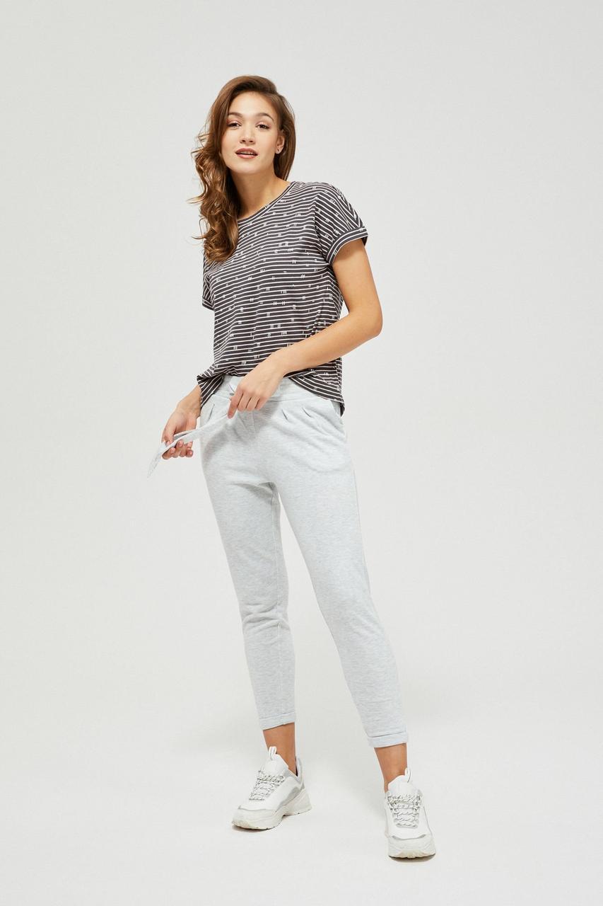 Спортивные брюки женские MOODO L-DR-3100 GREY MEL