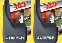 Citroen Jumper 1995-2006 гг. Брызговики с углублениями (2шт)