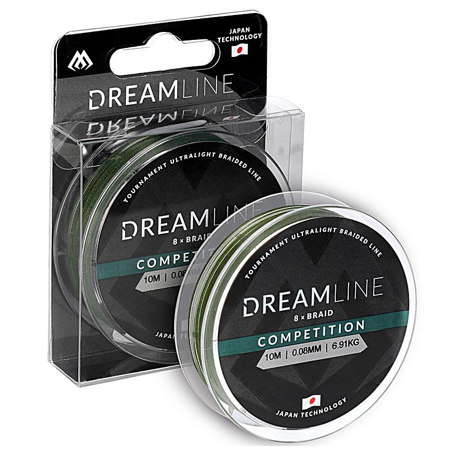 Шнур Mikado Dream Line Competition 10м 0,12мм 10,21кг green