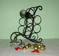 Мини-бар 602 (подставка под бутылку), черная/золото, фото 1