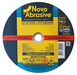 Круг отрезной 230х3,0х22,23 по металлу NovoAbrasive