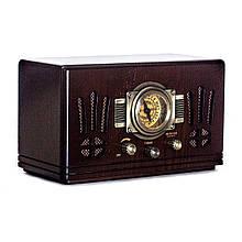 Радіоприймач в ретро стилі корпус з натурального дерева «Де Голль». Горіх