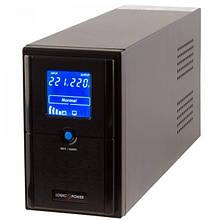 ИБП LogicPower LPM-UL625VA, Lin.int., AVR, 2 x євро, USB, LCD, метал