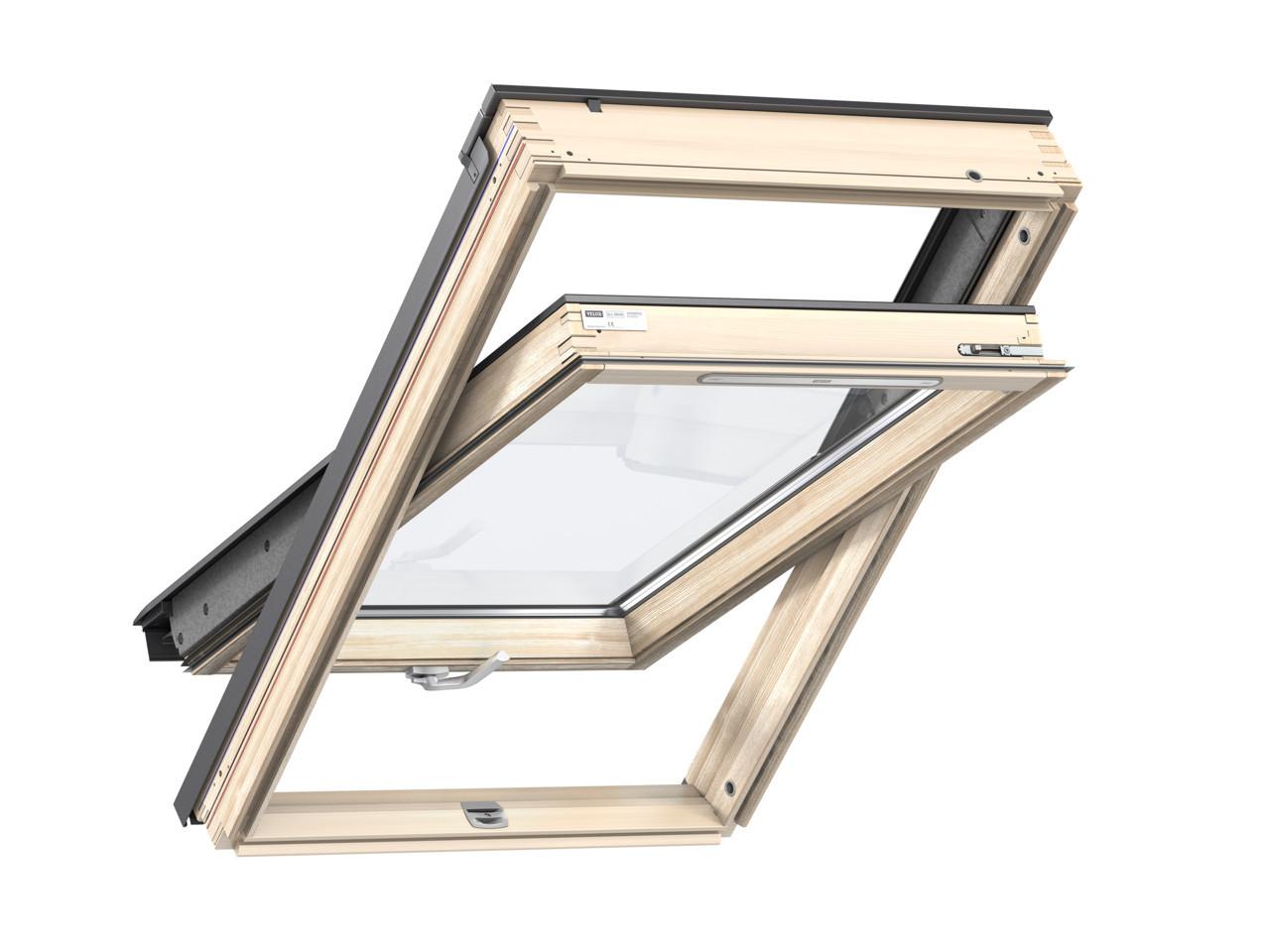 Мансардне вікно двокамерне Velux GLL 1061 B/ GLL 1061 ручка зверху або знизу Двухкамерные окна Велюкс