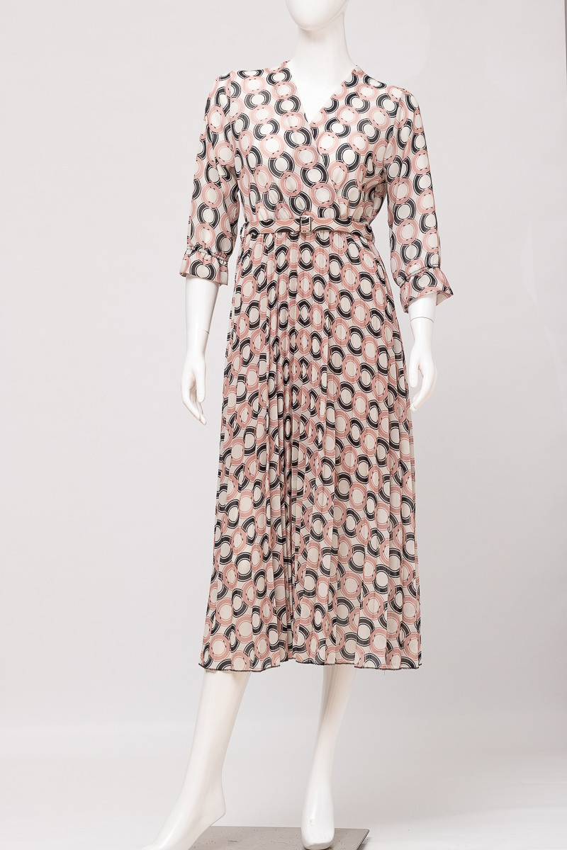 Платье женское NEW COLLECTION 1992 PUDRA/BLACK TSEP