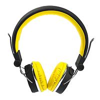 Беспроводные Bluetooth стерео наушники с гарнитурой Awei Original с MP3 и FM Чёрно-жёлтые (A700BT)