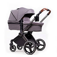 Детская коляска 2в1 Ninos Alba Melange Grey (NA2018MG)