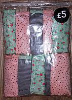 """Трусики детские для девочки """"Мятные с розовыми"""" (1,5-2 лет). Цена за 5 шт."""
