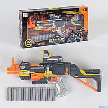 Автомат SB 418 (12/2) с мягкими пулями, звук, на батарейках, в коробке