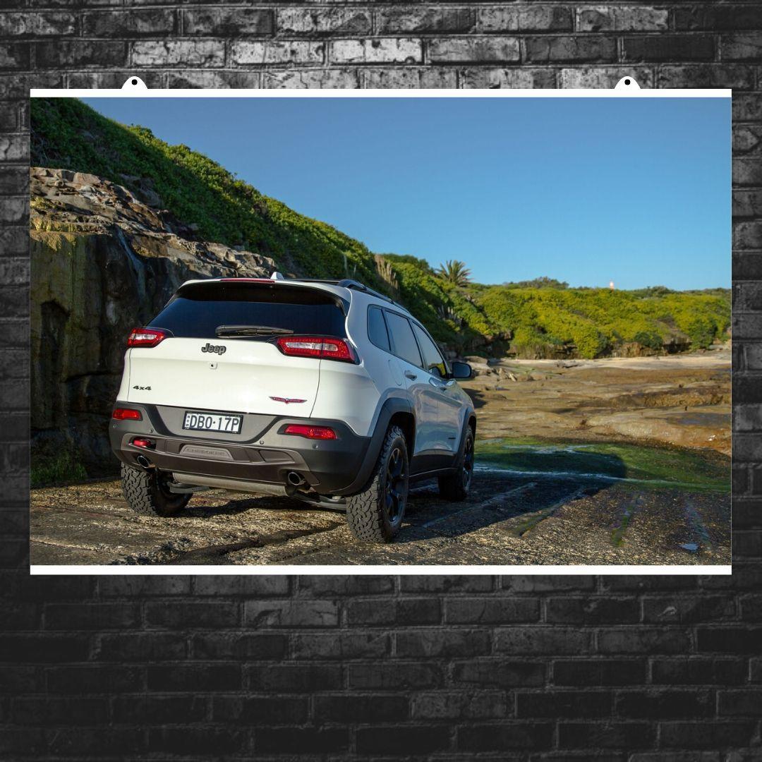 "Постер ""Jeep Grand Cherokee"". Вариант №8. Размер 60x40см (A2). Глянцевая бумага"
