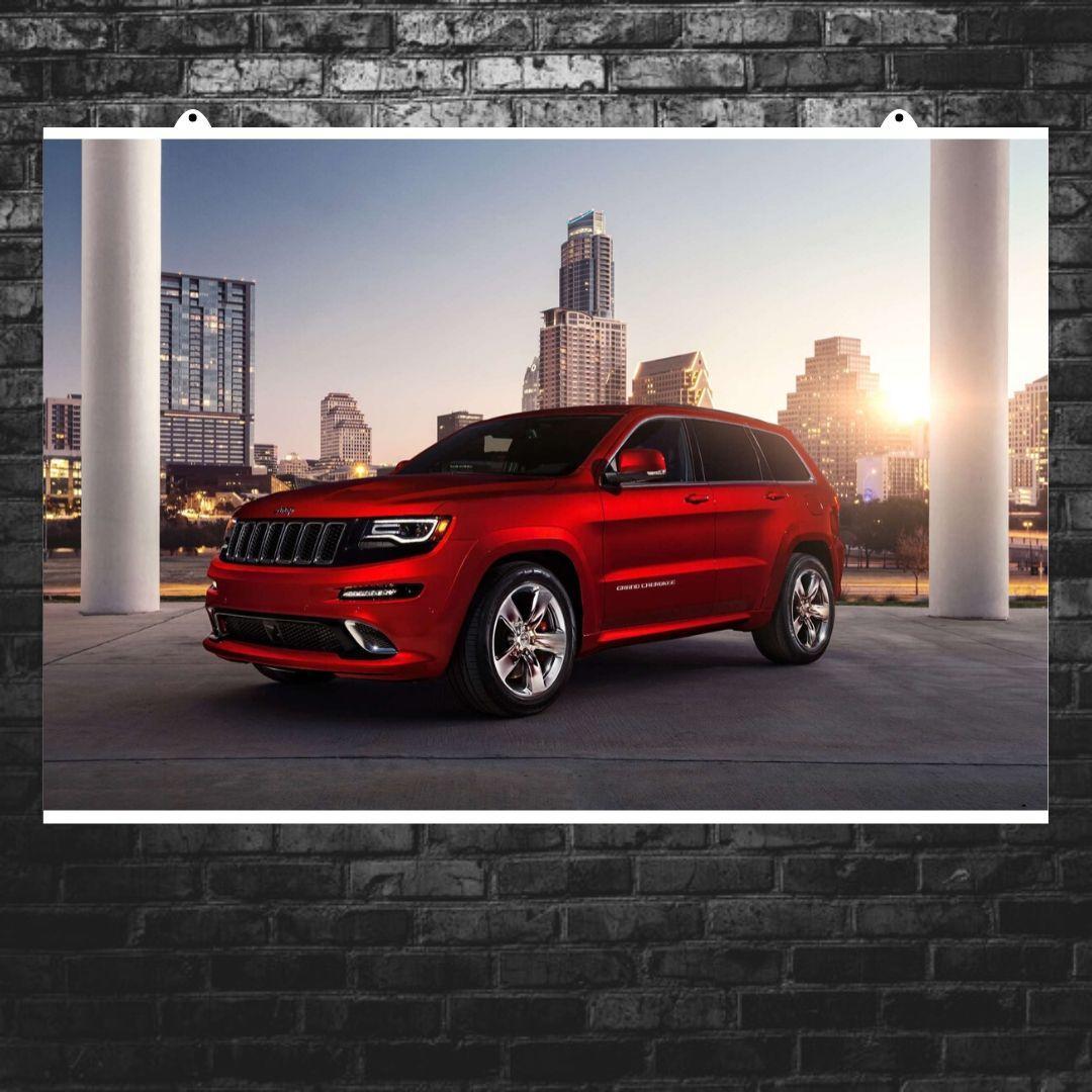 "Постер ""Jeep Grand Cherokee"". Вариант №11. Размер 60x41см (A2). Глянцевая бумага"