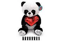 """Іграшка мяка """"Ведмедик Панда з сердечком"""", Мягкая игрушка """"Мишка Панда с сердцем"""", фото 4"""