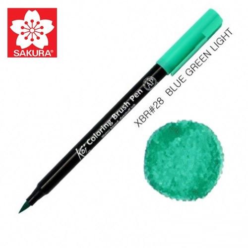 Маркер-кисточка акварельный KOI, Зелено-синий (28), Sakura