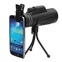 Монокуляр бинокль PANDA 40x60 PRO с ночным видением с креплением прищепкой для телефона и подставкой, (Оригинал)