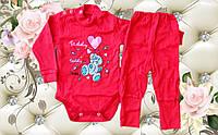 Детский бодик и штанишки Мишутка Красный