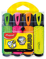 Маркер текстовыделитель Maped FLUO PEPS Classic набор 4 шт (MP.742547)