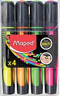 Маркер текстовыделитель Maped FLUO PEPS Max набор 4 шт (MP.742947)