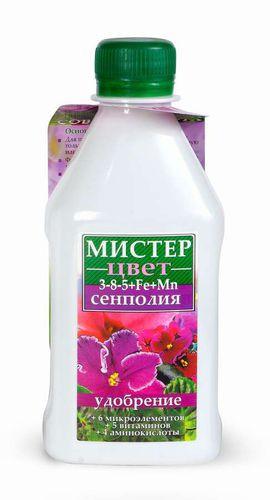 """""""Мистер-Цвет"""" Сенполия 300 мл удобрения для цветущих растений """"Гилея"""""""