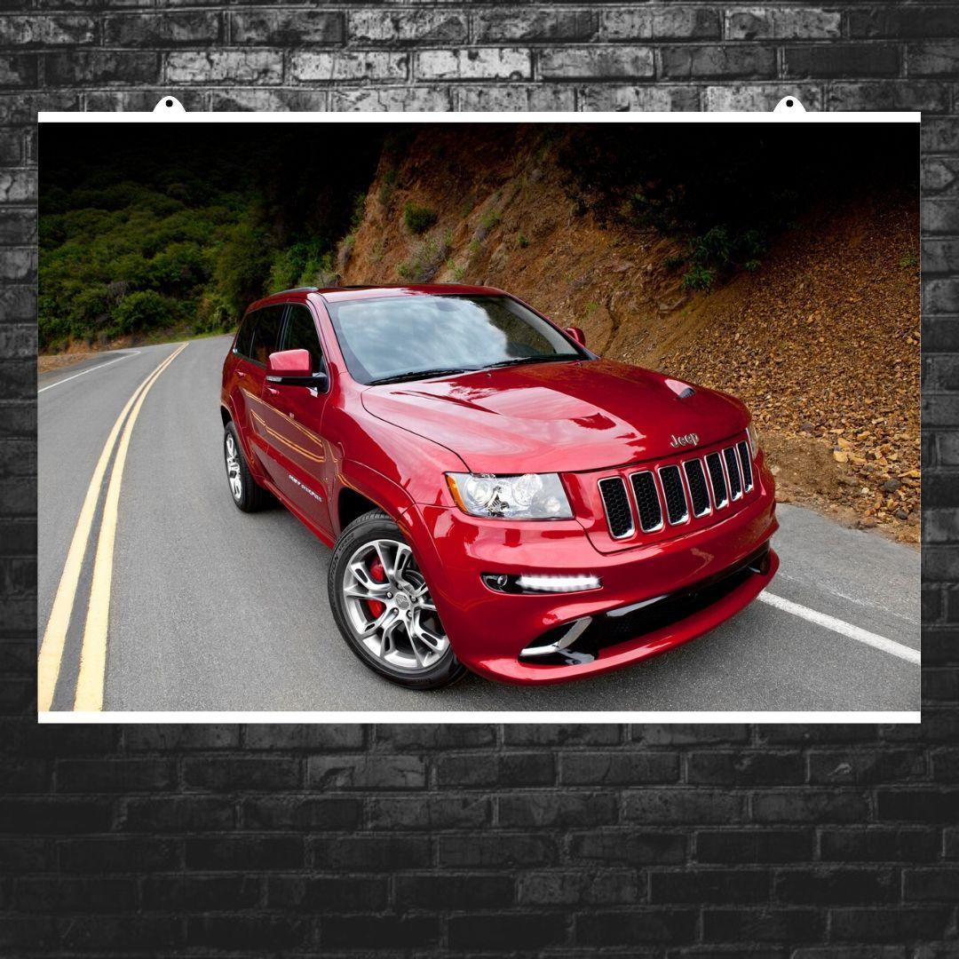 "Постер ""Jeep Grand Cherokee"". Вариант №18. Размер 60x40см (A2). Глянцевая бумага"