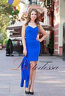 Платье с жакетом синий