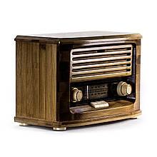 Радиоприемник в ретро стиле корпус бамбуковый «Малыш»