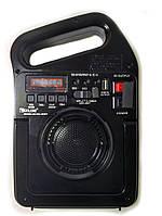 Радио Bluetooth колонка портативная с солнечной батареей с функцией Power Bank Golon RX-498BT, (Оригинал)