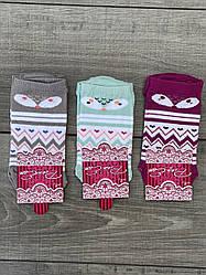 Женские носки Pier Esse короткие хлопок мордочки и геометрические фигуры 35-40 12 шт в уп микс 3 цветов