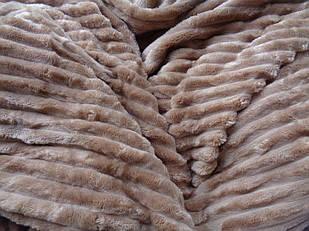 Покривало плед смужка Шарпей Євро 200х230 см Мокко